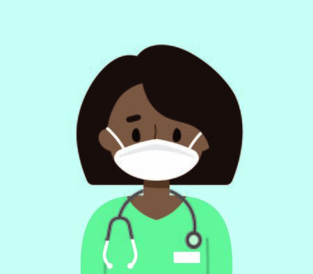 Female doctor wearing a face mask  イラスト・ベクター素材