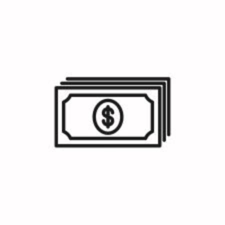Dollar bills icon on white background Illustration