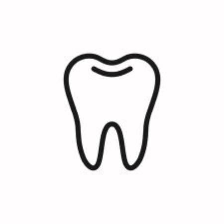 Tooth icon vector on white background Vettoriali