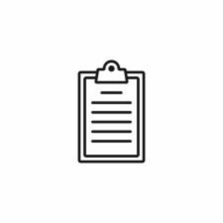 Clipboard icon on white background