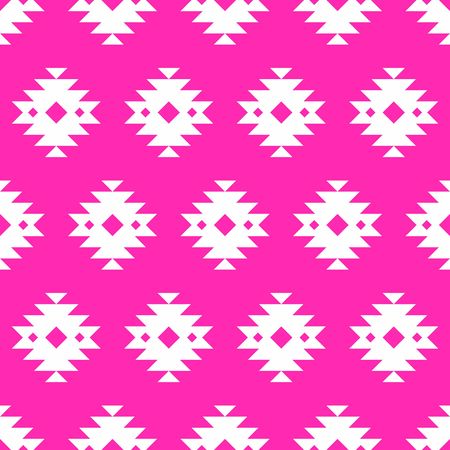 Pink and white kilim seamless pattern