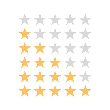 Stars rating on white background