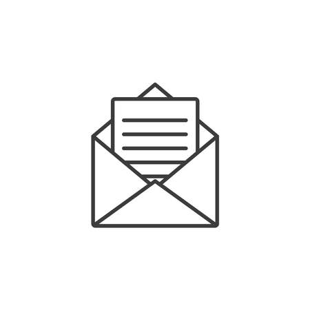 Letter and envelope icon vector