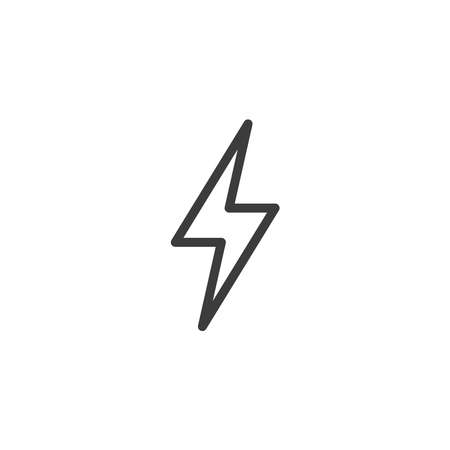 lightning bolt icon on white background