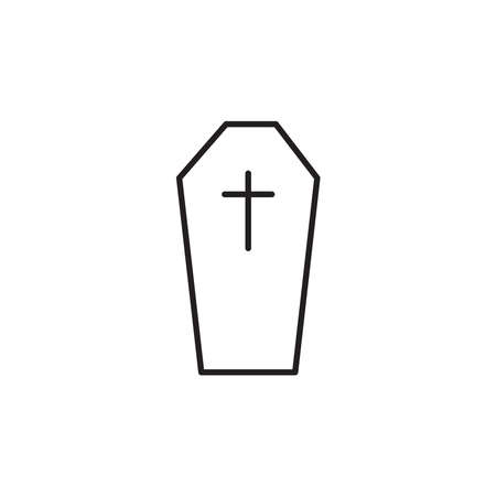 Coffin icon vector on white background