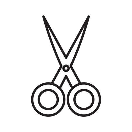 Scissors icon vector on white background