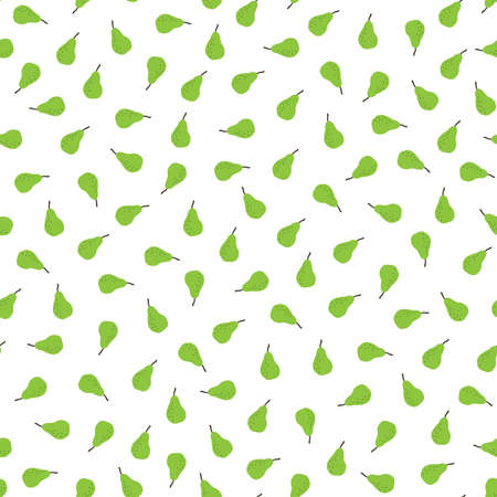 Seamless pattern with tiny pears