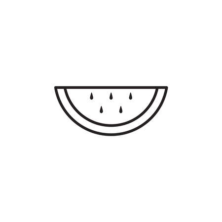 Watermelon icon vector on white background
