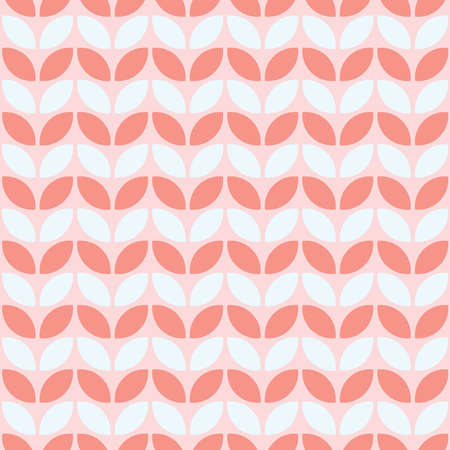 Pink seamless pattern with geometric shapes