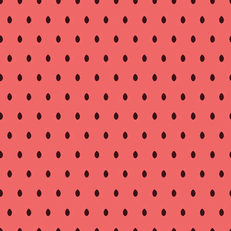 Pink seamless pattern with watermelon seeds