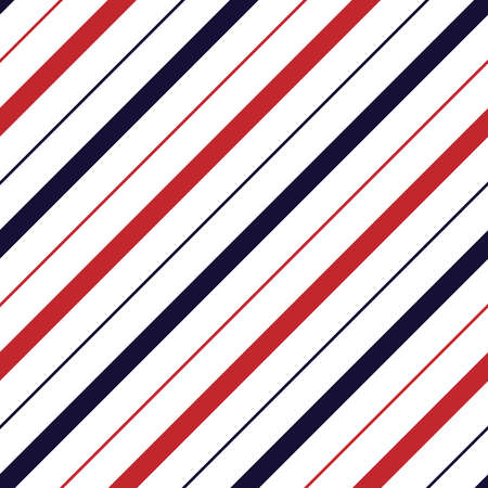Seamless pattern with red and navy diagonal stripes