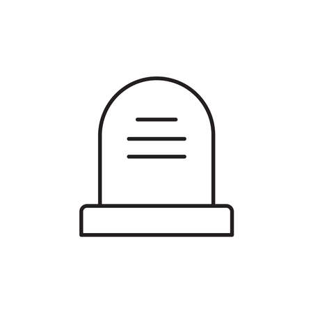 Headstone icon vector on white background