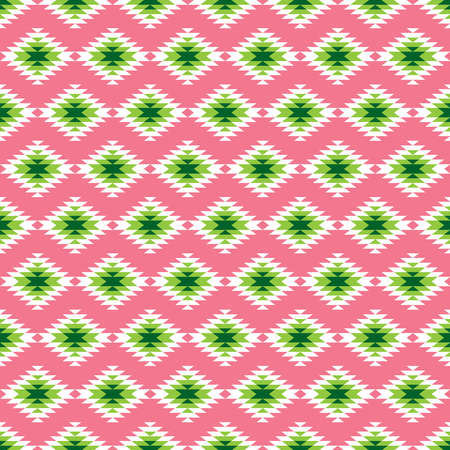 Pink and green kilim seamless pattern
