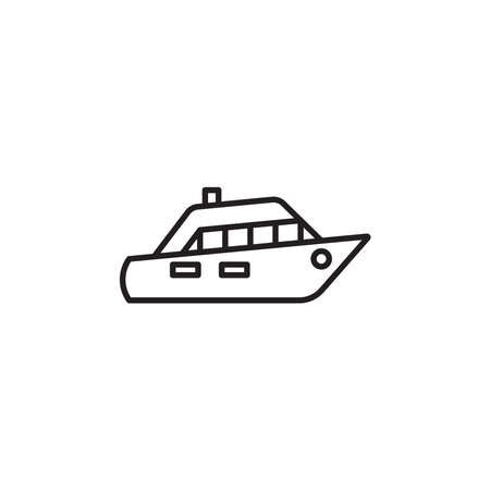 Yacht icon vector on white background Ilustração