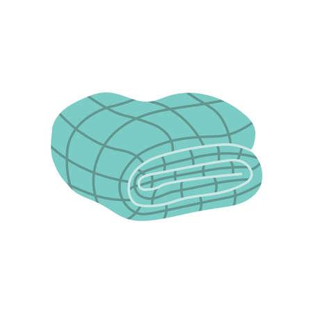 Blue blanket in hygge style
