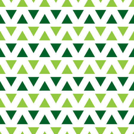 Seamless pattern with green triangles
