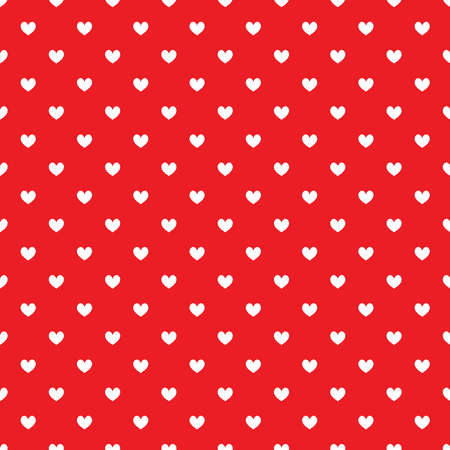 Red seamless pattern with white hearts