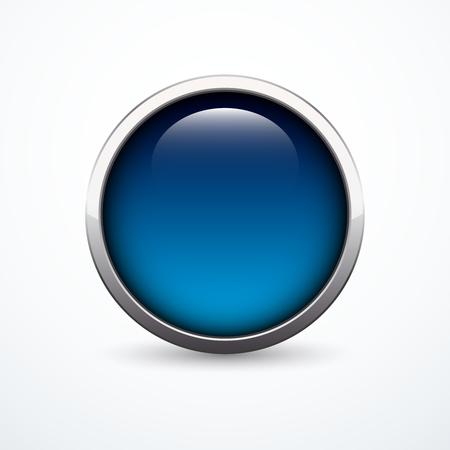blue button: blue button Illustration