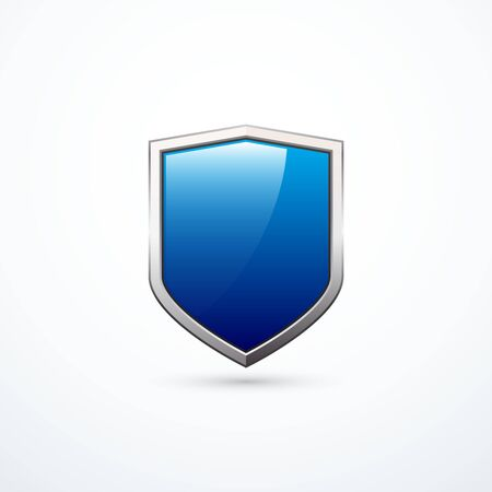 iron defense: Vector blue shield Illustration
