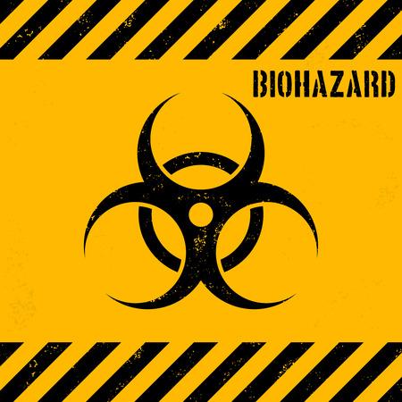 germ warfare: Biohazard background.