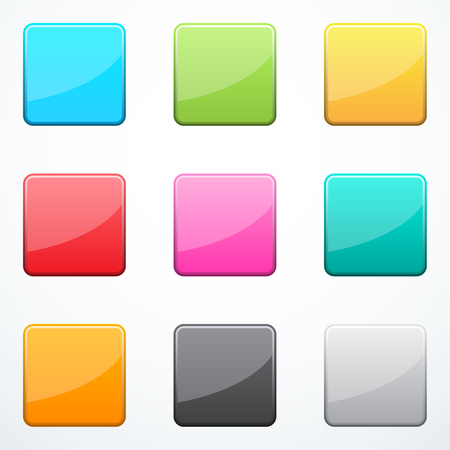 square buttons: Set of square buttons