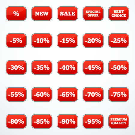 choise: Set of discount labels