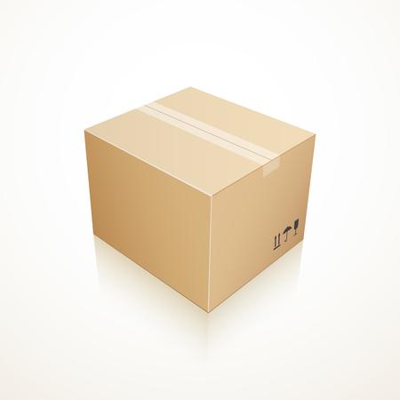forwarding: Closed cardboard box