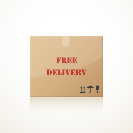 forwarding: Closed cardboard box. Free delivery.