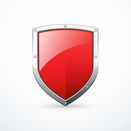 escudo rojo del vector Ilustración de vector