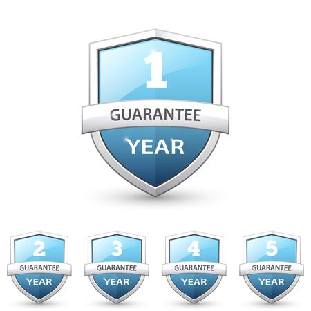 Set of guarantee shields Illustration