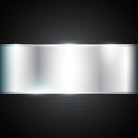 metallic background: Dark background with metallic banner Illustration