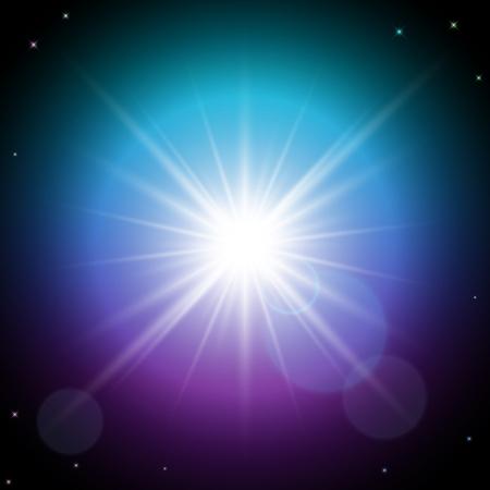 shining star: Shining star in space