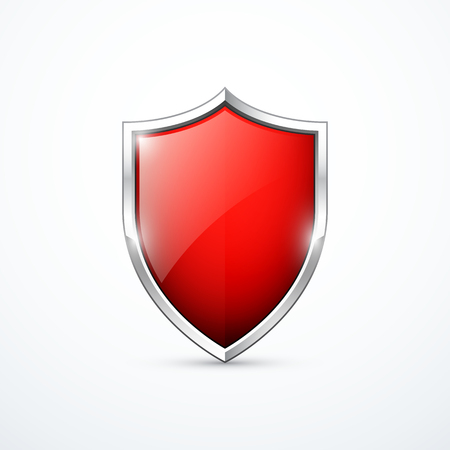 shield sign: Vector red shield