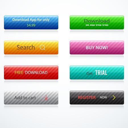 web buttons: Set of web buttons