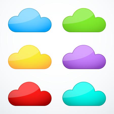 cloud: Set of cloud icons