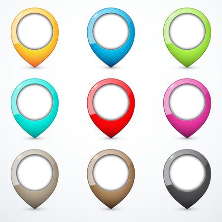map pins: Set of map pins Illustration
