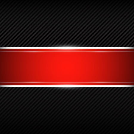 black stripes: Black background with red banner Illustration