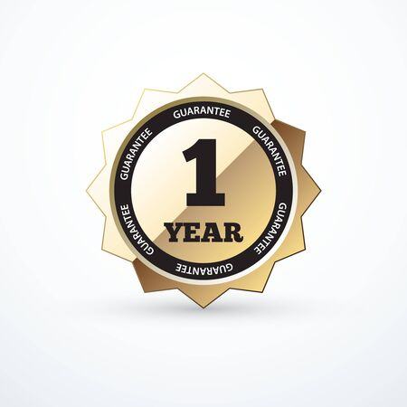 1 year: 1 year guarantee gold sign