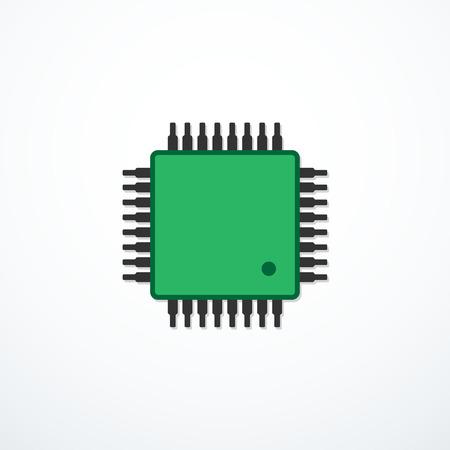 Icône Vector CPU. Icône de l'unité centrale de traitement