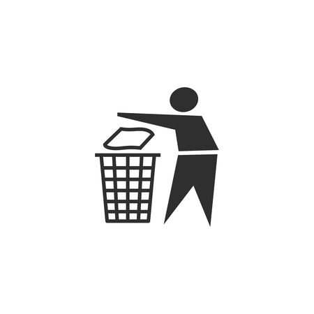 recycling: Vector recycling sign icon