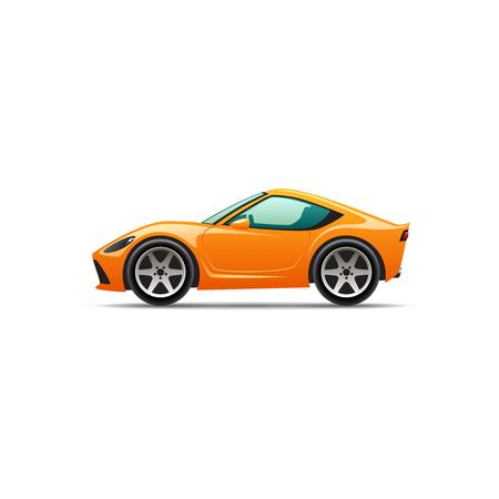 Vector cartoon sport car Illustration