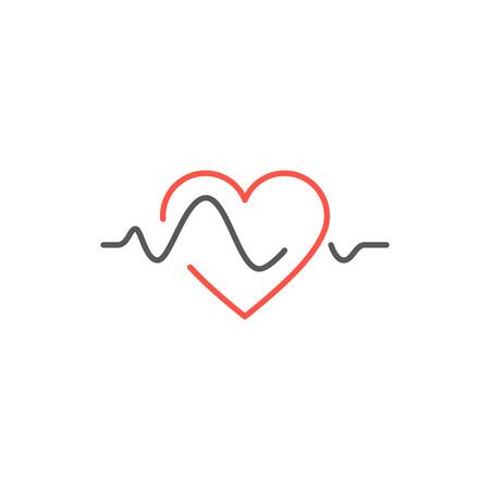 Vector heart beat line icon. healtcare concept Illustration