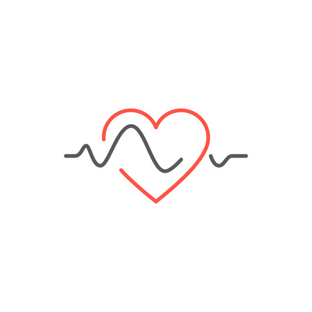 Vector heart beat line icon. healtcare concept Illustration