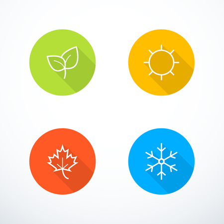 Vector season icons Çizim