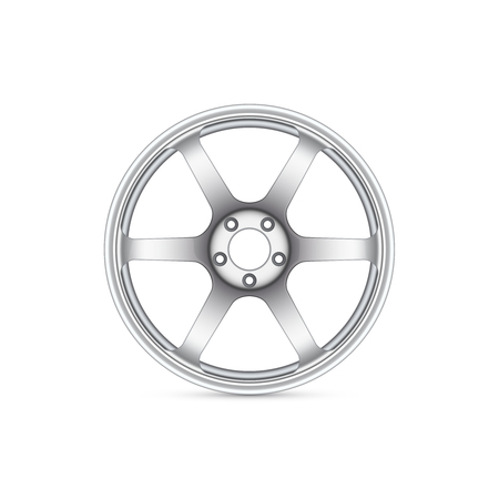 alloy wheel: Vector realistic alloy wheel isolated