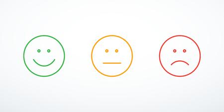 Set of emoticon icons Illustration
