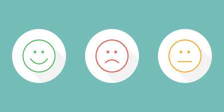 Set of emoticon icons Stock Vector - 84780224