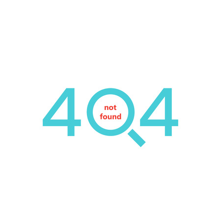 display problem: 404 error page. Page not found. Illustration