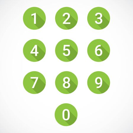 Set of 0-9 numbers