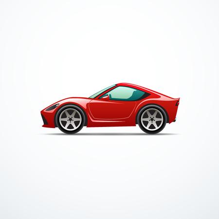 deportes caricatura: Vector de coches deportivos de dibujos animados